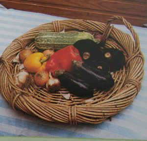 photo of a basket with vegetables