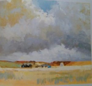 oil painting of a sky above the plain