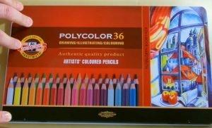Box of Koh-I-Nor professional colored pencils