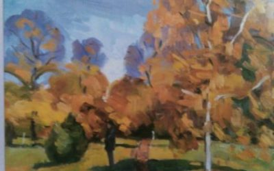 Painting Of Trees With Oil Colors