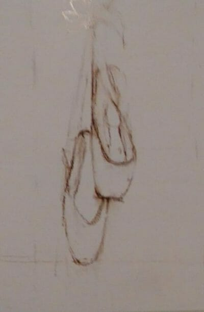 Sketch of ballet shoes