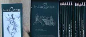 Box of Faber Castell graphite pencils
