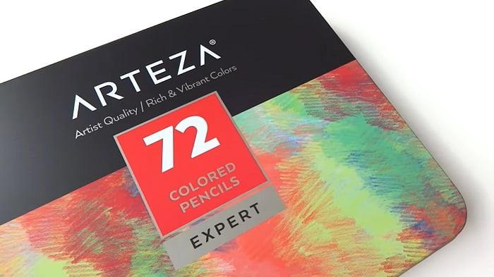 Box of Arteza professional colored pencils