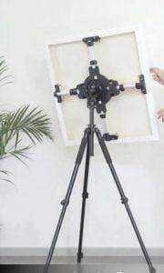 Artistic rotating studio easel