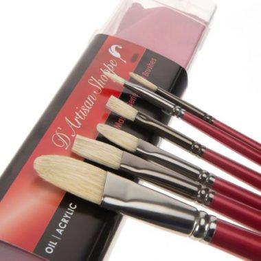 several D'artisan shoppe hog bristle brushes