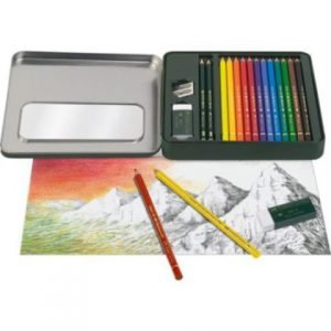 open box of faber castell artist colored pencils