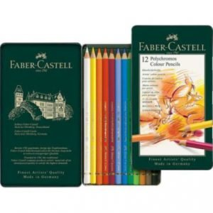 Opened box of Faber Castell colored pencils