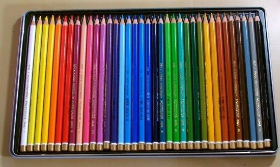 Open box of Koh-I -Nor colored pencils