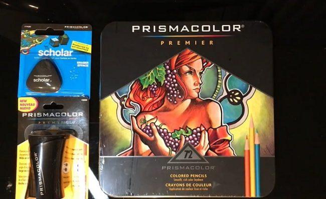 Box of Prismacolor Premier colored pencils
