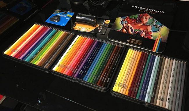 open box of prismacolor premier colored pencils