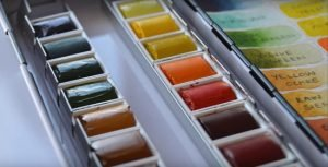 Winsor and Newton professional watercolors opened box