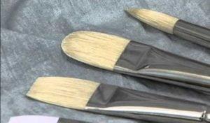 several connoisseur hog bristle brushes