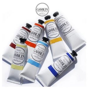 several tubes of Gamblin professional oil colors