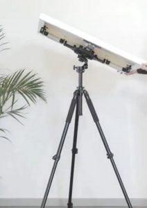 artistic rotating studio easel tilted at an angle