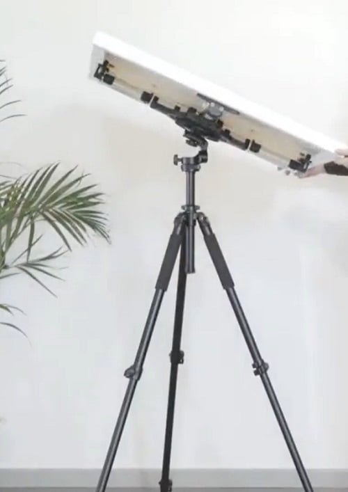 artistic rotating studio easel tilted at an angle